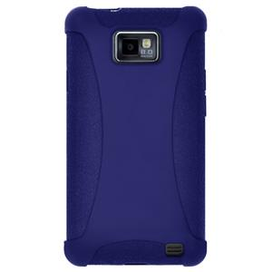 Amzer Silicone Skin Jelly Case - Blue for Samsung GALAXY S II GT-I9100