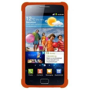 AMZER Silicone Skin Jelly Case for Samsung GALAXY S II GT-I9100 - Orange
