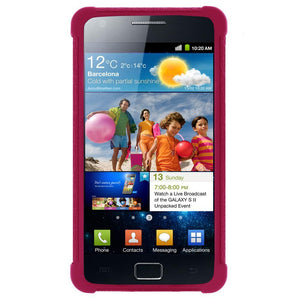 AMZER Silicone Skin Jelly Case for Samsung GALAXY S II GT-I9100 - Hot Pink