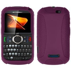 AMZER® Silicone Skin Jelly Case - Purple for Motorola Clutch i475
