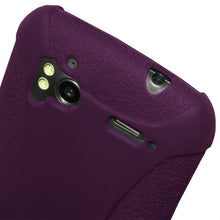 Load image into Gallery viewer, AMZER Shockproof Rugged Silicone Skin Jelly Case for HTC Sensation 4G - Purple