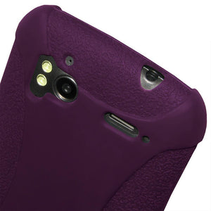 AMZER Shockproof Rugged Silicone Skin Jelly Case for HTC Sensation 4G - Purple