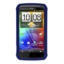 Load image into Gallery viewer, AMZER Shockproof Rugged Silicone Skin Jelly Case for HTC Sensation 4G - Blue