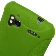 Load image into Gallery viewer, AMZER Shockproof Rugged Silicone Skin Jelly Case for HTC Sensation 4G - Green