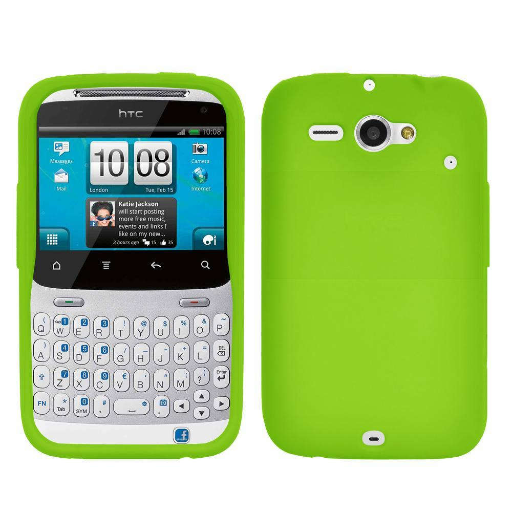 AMZER Silicone Skin Jelly Case for HTC ChaCha - Green