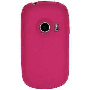 AMZER® Silicone Skin Jelly Case - Hot Pink for Huawei M835