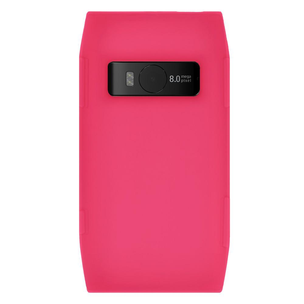 AMZER Silicone Skin Jelly Case for Nokia X7-00 - Baby Pink