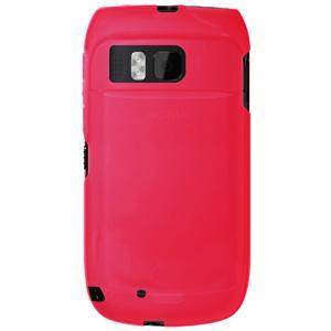 AMZER Soft Gel TPU Gloss Skin Case - Hot Pink for Nokia E6-00