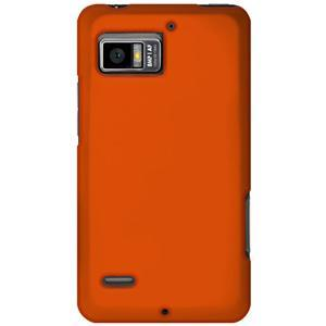 AMZER® Silicone Skin Jelly Case - Orange for Motorola DROID BIONIC XT875