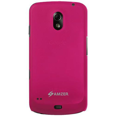 AMZER Simple Click On Case - Rubberized Hot Pink for Google GALAXY Nexus
