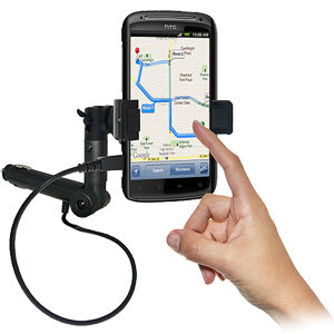AMZER Lighter Socket Phone Mount with Charging & Case System for HTC Sensation