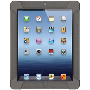 AMZER Shockproof Rugged Silicone Skin Jelly Case for iPad 3 - Grey