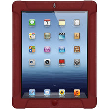 Load image into Gallery viewer, AMZER Shockproof Rugged Silicone Skin Jelly Case for iPad 3 - Maroon Red