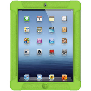 AMZER Shockproof Rugged Silicone Skin Jelly Case for iPad 3 - Green
