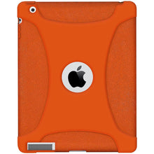 Load image into Gallery viewer, AMZER Shockproof Rugged Silicone Skin Jelly Case for iPad 3 - Orange