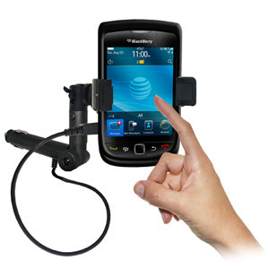 AMZER Lighter Socket Phone Mount with Charging & Case System for BlackBerry Torch 9800
