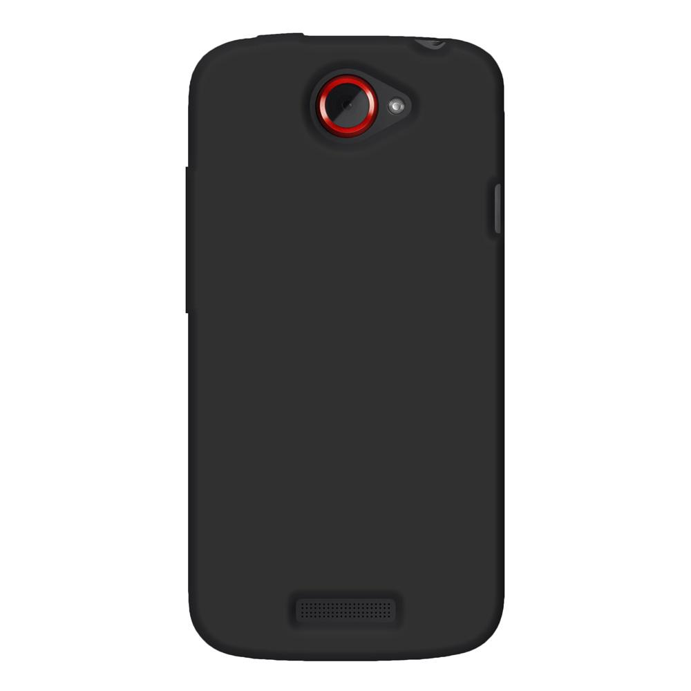 Amzer Silicone Skin Jelly Case - Black for HTC One S