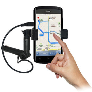 AMZER Lighter Socket Phone Mount with Charging & Case System for HTC One S