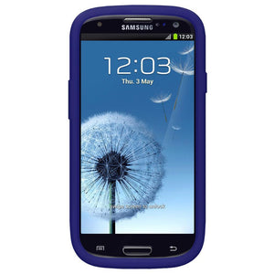 AMZER Shockproof Rugged Silicone Skin Jelly Case for Samsung GALAXY S III - Blue
