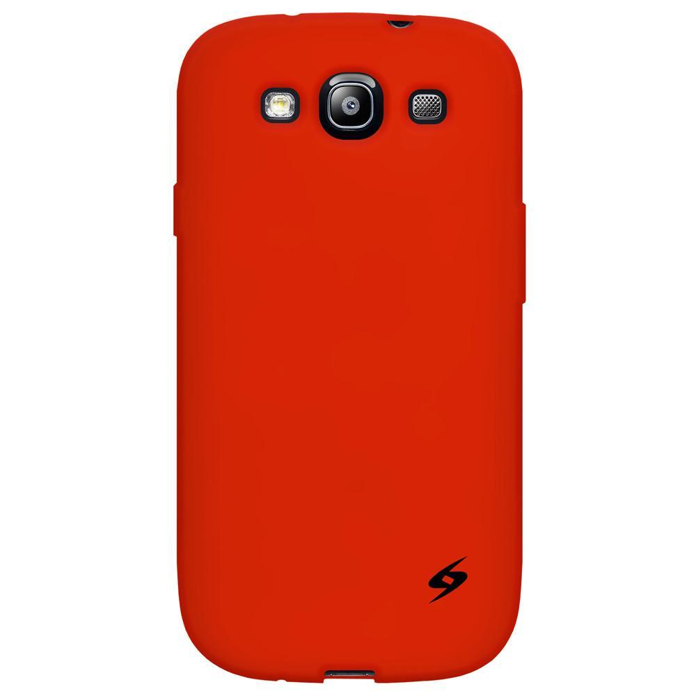 AMZER Silicone Skin Jelly Case for Samsung GALAXY S III GT-I9300 - Red