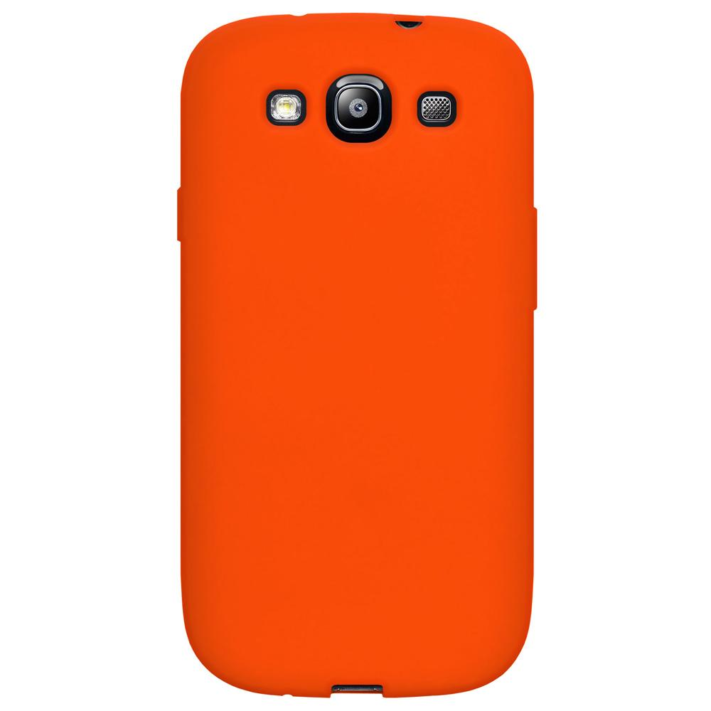 Amzer Silicone Skin Jelly Case - Orange for Samsung GALAXY S3 Neo GT-I9300I, Samsung GALAXY S III GT-I9300