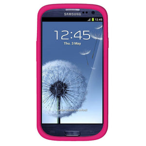 AMZER Silicone Skin Jelly Case for Samsung GALAXY S III GT-I9300 - Hot Pink