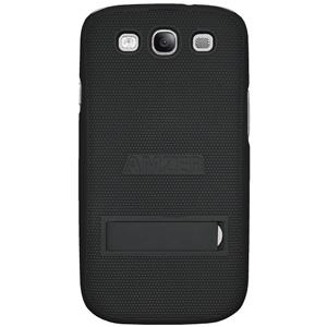 Amzer Snap On Case with kickstand - Black for Samsung GALAXY S3 Neo GT-I9300I, Samsung GALAXY S III GT-I9300