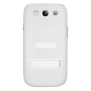AMZER Snap On Case with kickstand - White for Samsung GALAXY S III GT-I9300