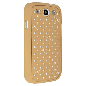 AMZER Diamond Lattice Snap On Shell Case - Khaki for Samsung GALAXY S III GT-I9300