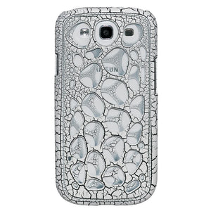 AMZER Synapse Snap On Hard Shell - White/ Black Craquelure for Samsung GALAXY S III GT-I9300