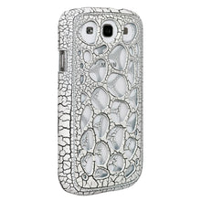 Load image into Gallery viewer, AMZER Synapse Snap On Hard Shell - White/ Black Craquelure for Samsung GALAXY S III GT-I9300