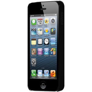 AMZER 1 MM Super Slim Simple Case with Screen Protector - Black for iPhone 5