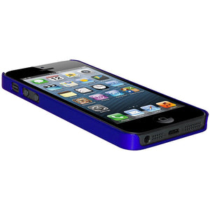 AMZER 1 MM Super Slim Simple Case with Screen Protector - Blue for iPhone 5