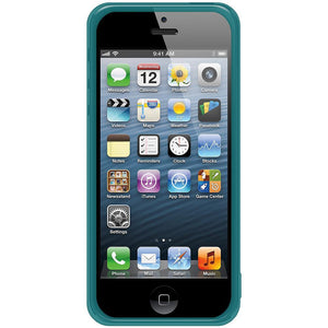 AMZER Soft Gel TPU Gloss Skin Case - Translucent Blue for iPhone 5