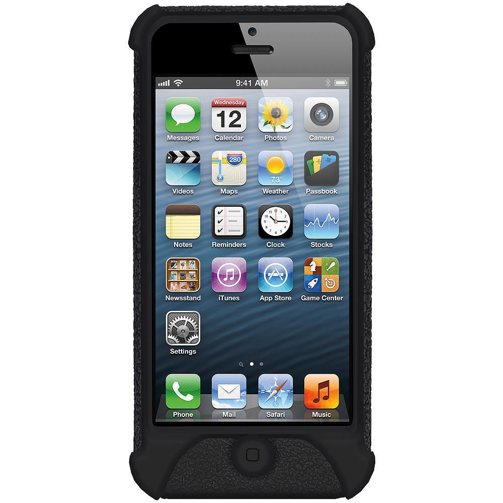 AMZER Shockproof Rugged Silicone Skin Jelly Case for iPhone 5 - Black