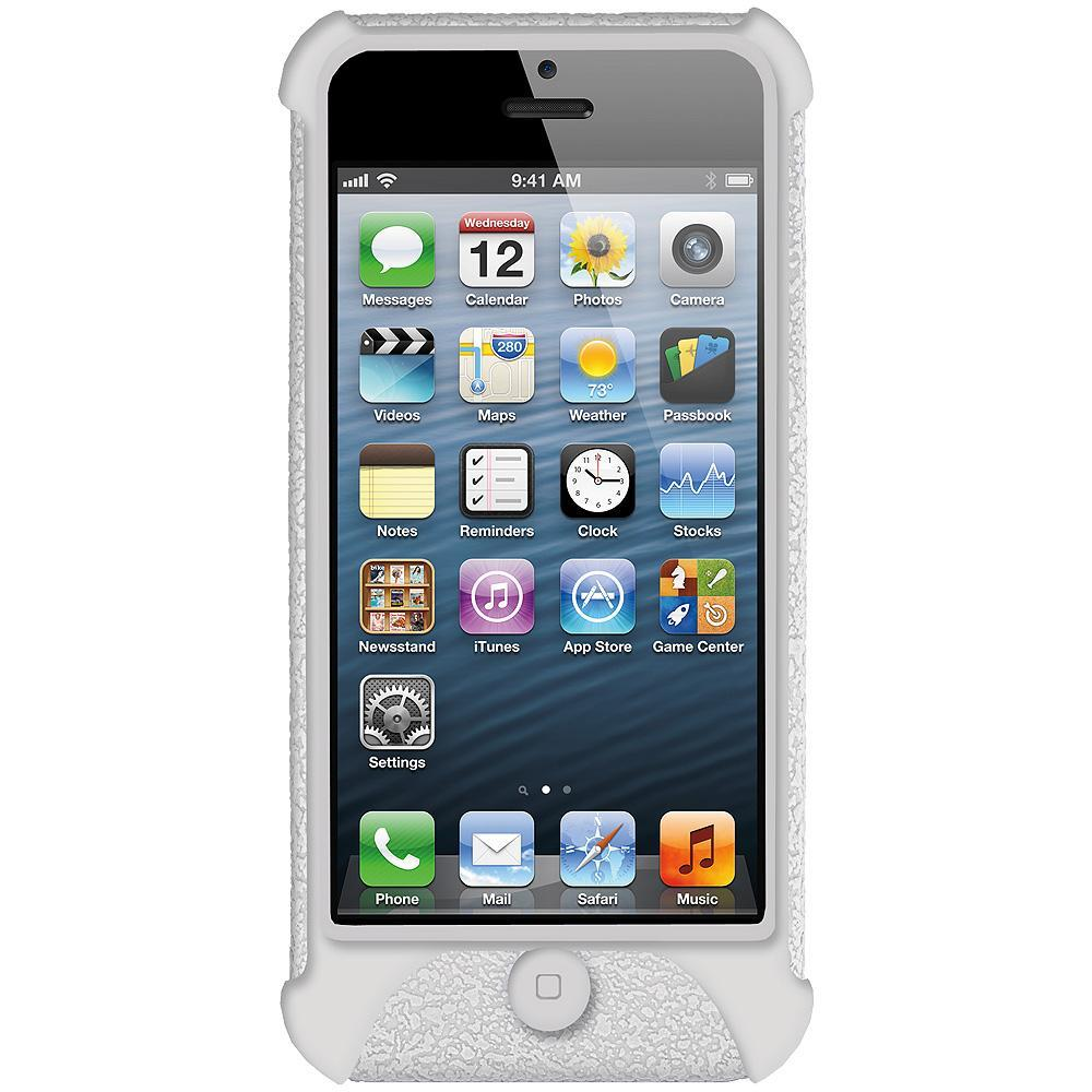 AMZER Shockproof Rugged Silicone Skin Jelly Case for iPhone 5 - Solid White