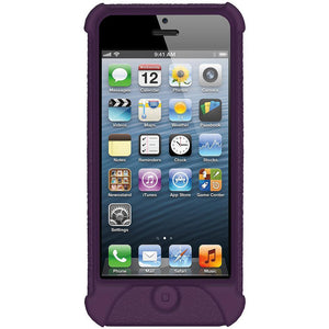 AMZER Shockproof Rugged Silicone Skin Jelly Case for iPhone 5 - Purple