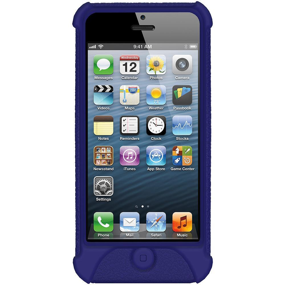 AMZER Shockproof Rugged Silicone Skin Jelly Case for iPhone 5 - Blue