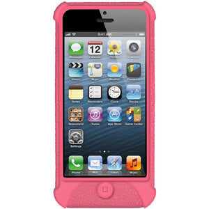 AMZER Shockproof Rugged Silicone Skin Jelly Case for iPhone 5 - Baby Pink
