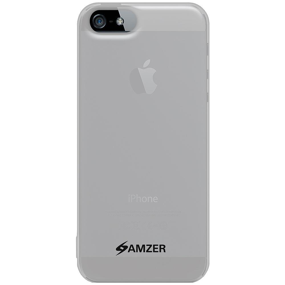 AMZER Soft Gel TPU Gloss Skin Case - Cloudy Clear for iPhone 5