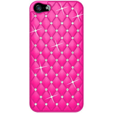 Load image into Gallery viewer, AMZER Diamond Lattice Snap On Shell Case - Hot Pink for iPhone 5