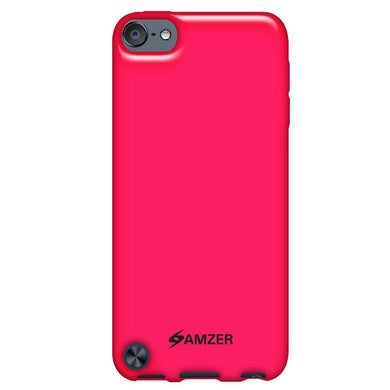 AMZER Soft Gel TPU Gloss Skin Case - Hot Pink for iPod Touch 5th Gen