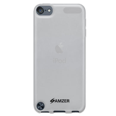 AMZER Soft Gel TPU Gloss Skin Case - Translucent White for iPod Touch 5th Gen