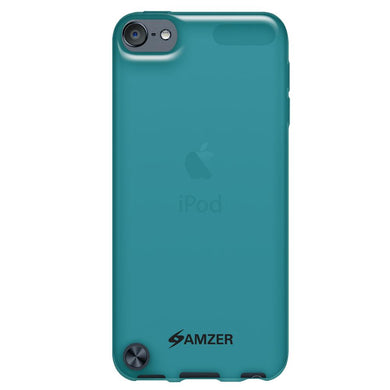 Amzer Soft Gel TPU Gloss Skin Case - Translucent Blue for iPod Touch 6th Gen, iPod Touch 5th Gen