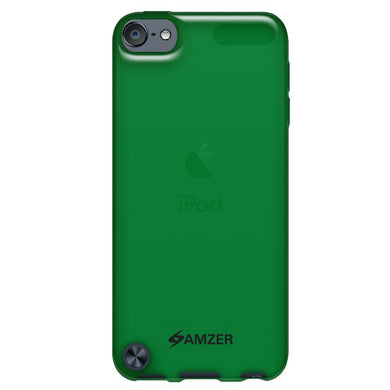 AMZER Soft Gel TPU Gloss Skin Case - Translucent Green for iPod Touch 5th Gen