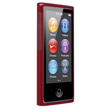 Load image into Gallery viewer, AMZER Soft Gel TPU Gloss Skin Case - Translucent Red for iPod Nano 7th Gen