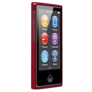 AMZER Soft Gel TPU Gloss Skin Case - Translucent Red for iPod Nano 7th Gen