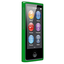 Load image into Gallery viewer, AMZER Soft Gel TPU Gloss Skin Case - Translucent Green for iPod Nano 7th Gen