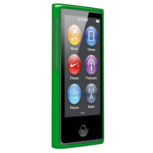 AMZER Soft Gel TPU Gloss Skin Case - Translucent Green for iPod Nano 7th Gen