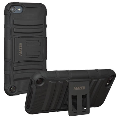 AMZER Hybrid Kickstand Case - Black/ Black for iPod Touch 5th Gen